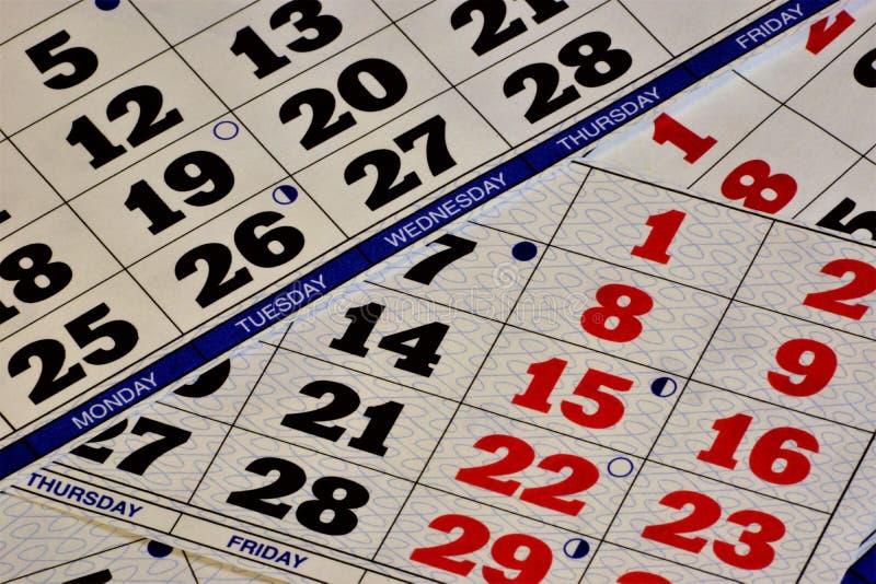 Kalender-einsystem der Zählung von großen Zeiträumen, basiert auf der Frequenz der Bewegung der Himmelskörper Kalender ist eine L stockfotos