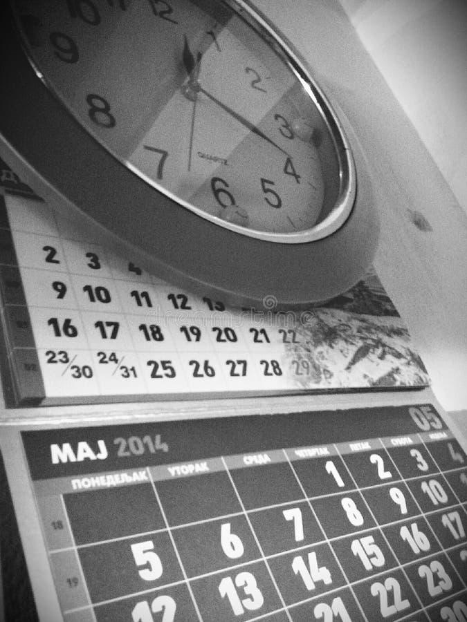 Kalender en Klok royalty-vrije stock foto's