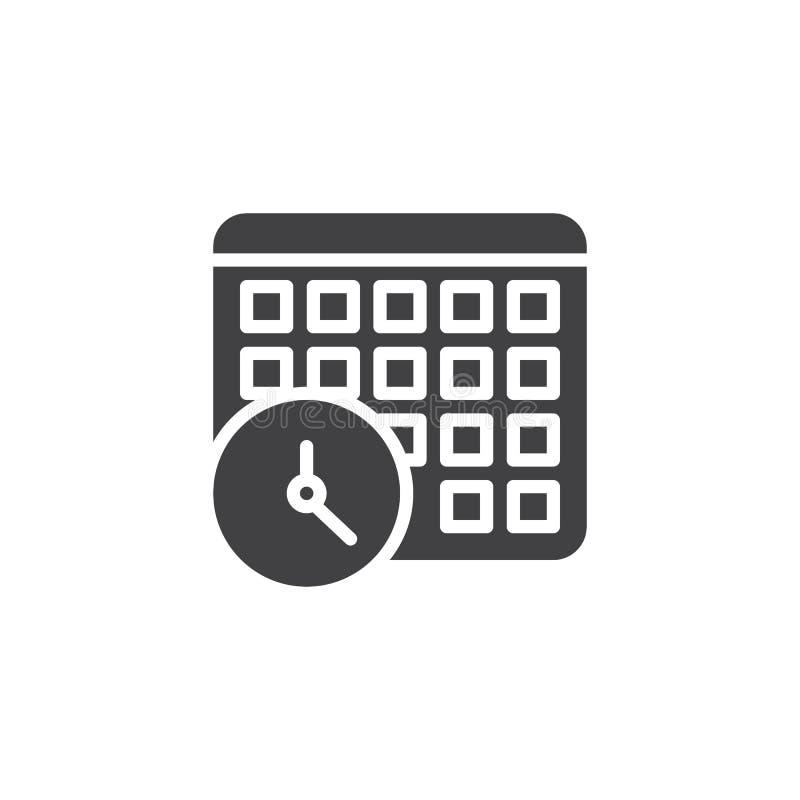 Kalender en klok vectorpictogram royalty-vrije illustratie
