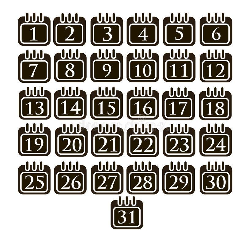 Kalender för arbetsdagsdagar royaltyfri illustrationer