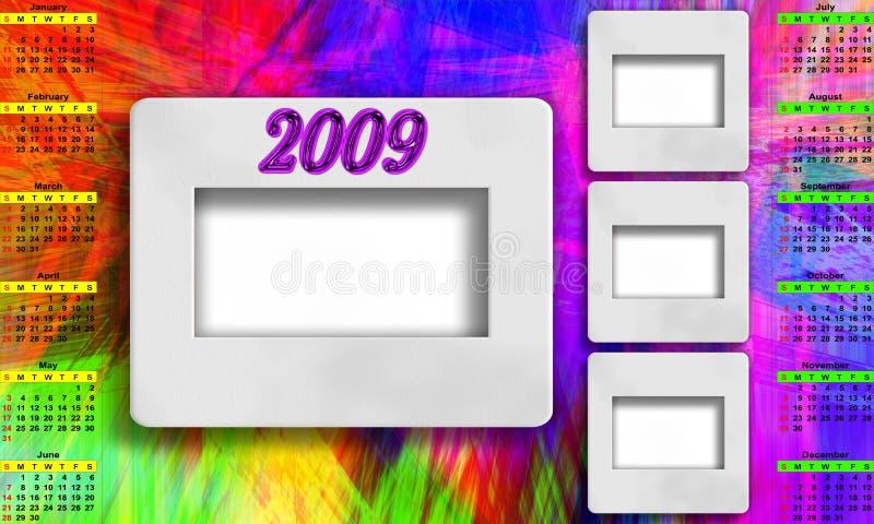 Kalender für 2009 lizenzfreie abbildung