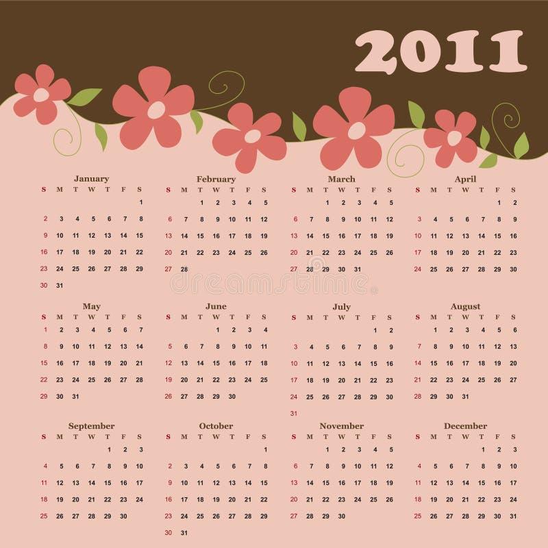 Kalender für 2011 vektor abbildung