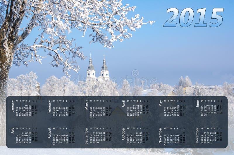Kalender für 2015 stockbild