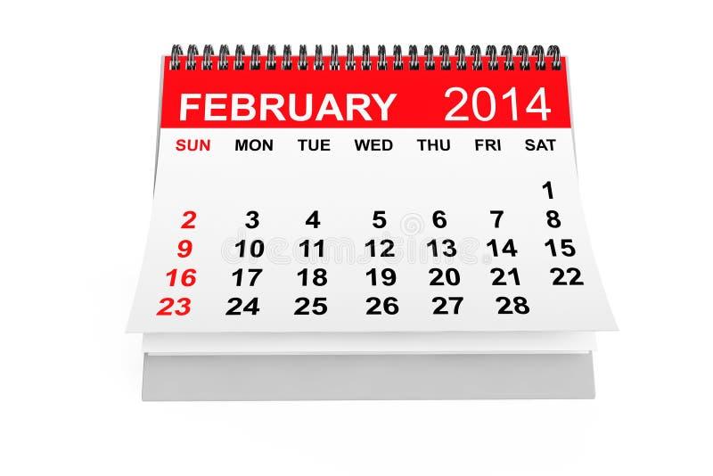 Download Kalender Februari 2014 stock illustrationer. Illustration av minns - 37344562