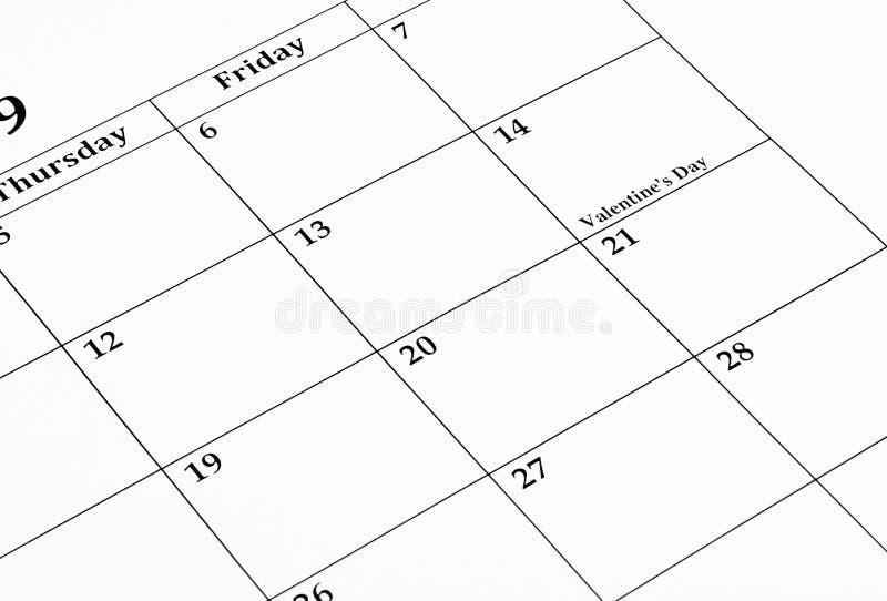 kalender februari royaltyfria foton
