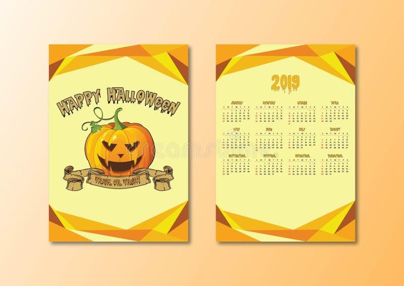 Kalender Halloween lizenzfreie abbildung