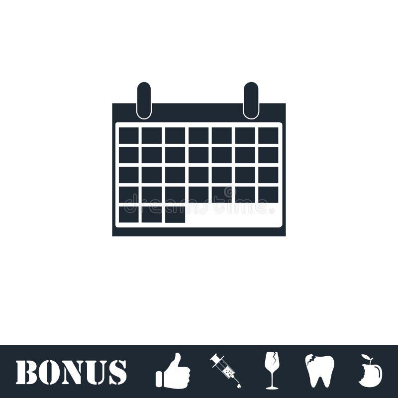 Kalender-Ikone flach stock abbildung
