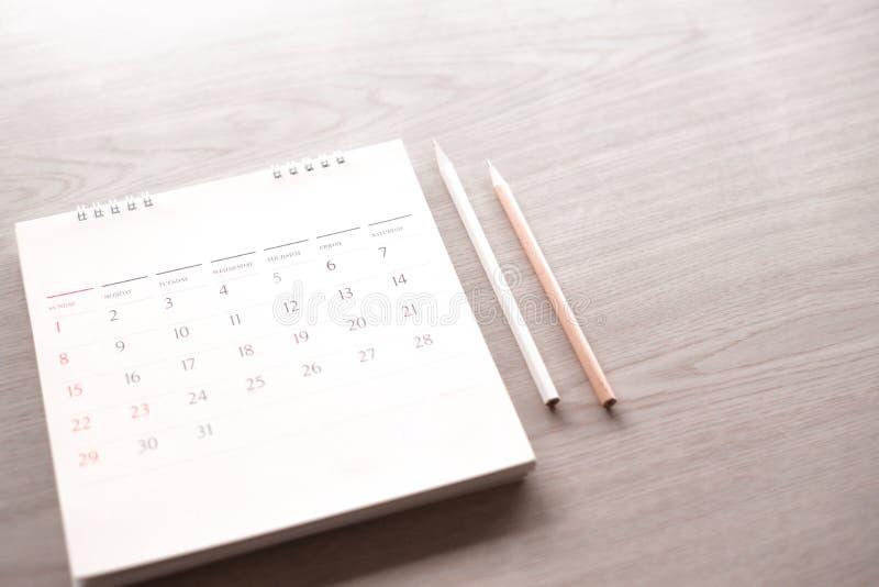 Kalender im Plankonzept stockbilder