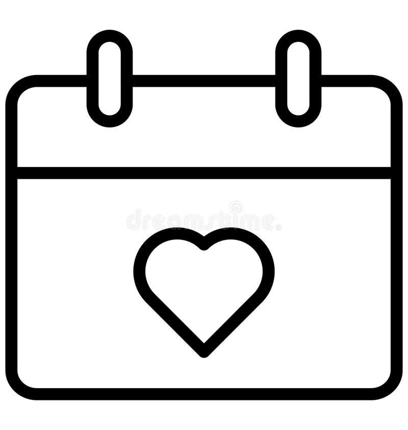Kalender isolerad vektorsymbol som kan l?tt ?ndras eller redigera vektor illustrationer