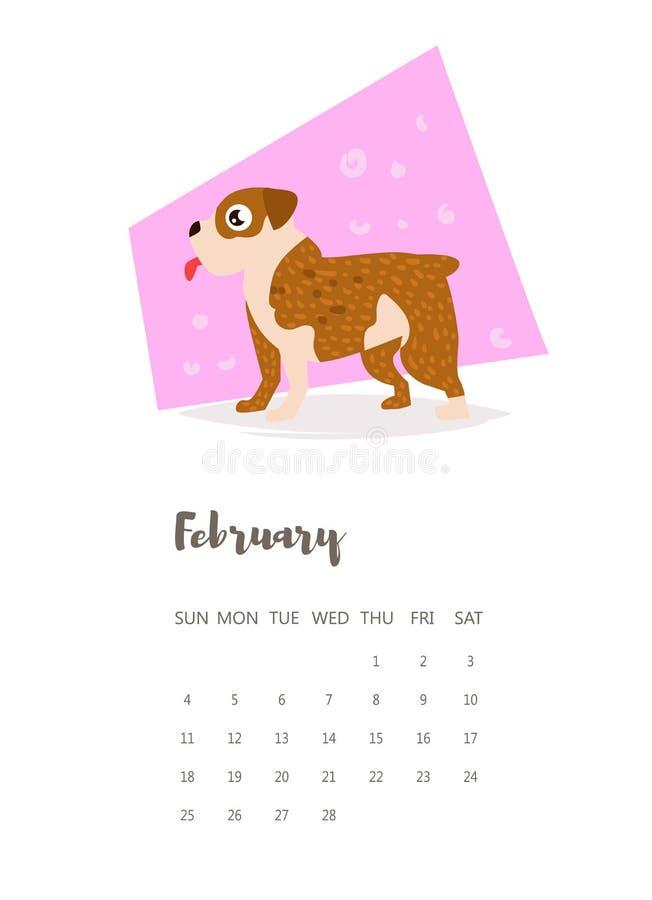 Kalender 2018 Januari vektor vektor illustrationer