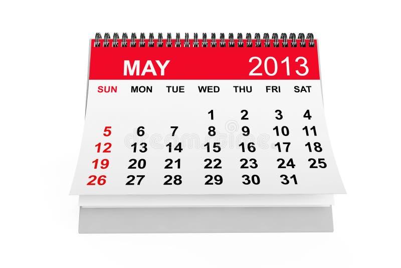 Kalender Maj 2013 royaltyfri illustrationer