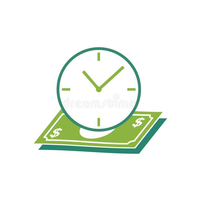 Kalender med isolerade illustrationen för avlöningsdagräknemaskinbegrepp den vektor royaltyfri illustrationer