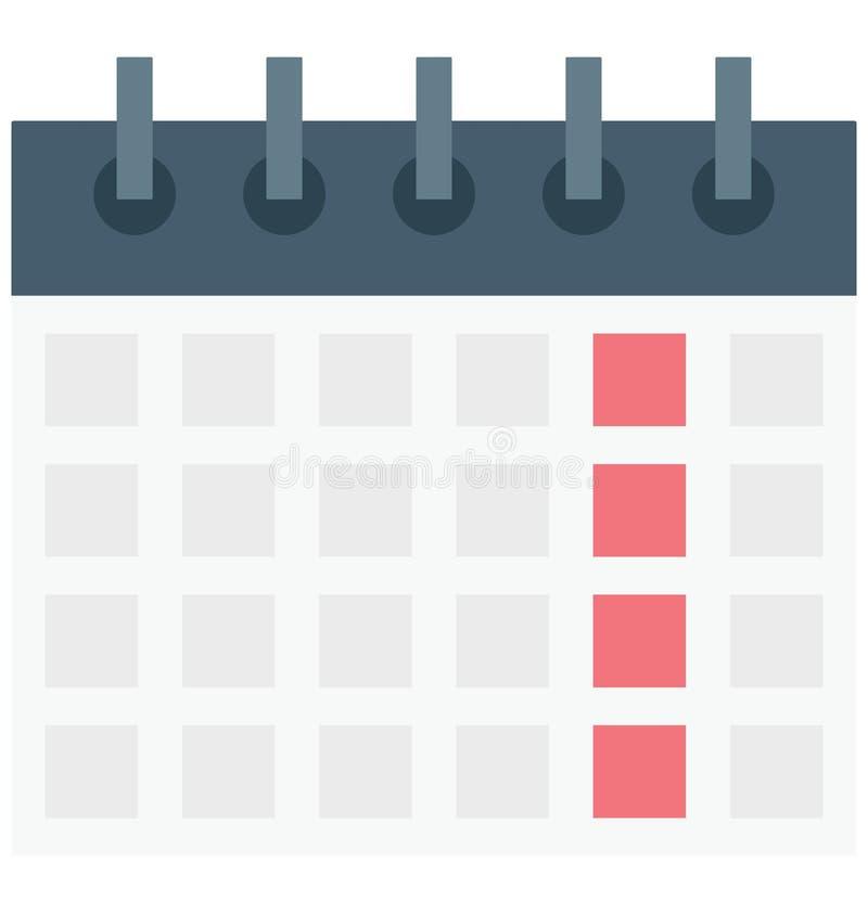 Kalender, medizinischer Zeitplan, lokalisierte Vektorikone, die leicht geändert werden oder redigieren kann vektor abbildung