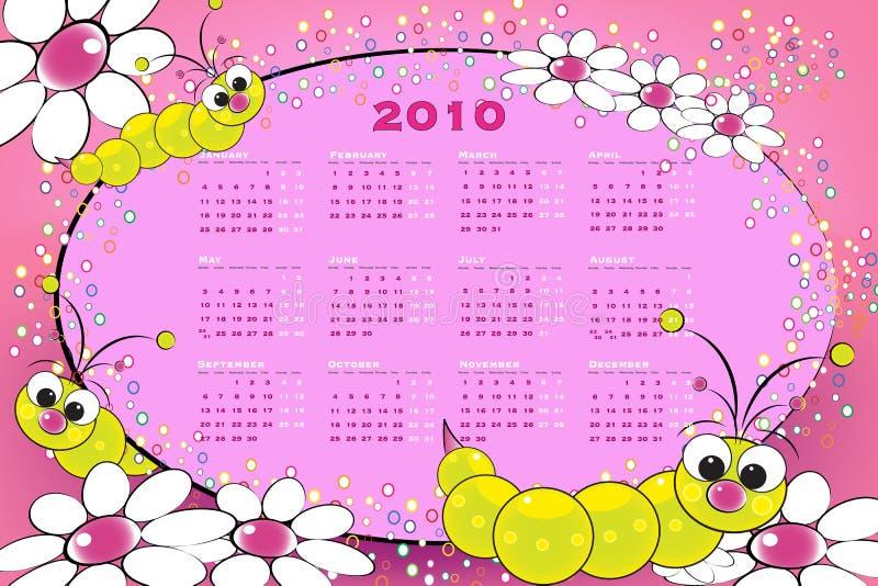 Kalender mit 2010 Kindern mit Maden vektor abbildung