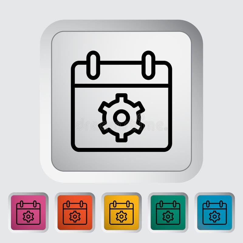 Download Kalender mit Gang vektor abbildung. Illustration von zeichen - 90230818