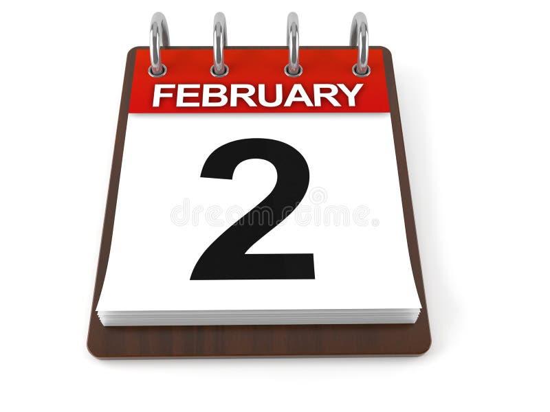 Kalender mit Groundhog Day-Datum lizenzfreie abbildung