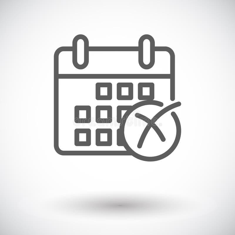 Download Kalender mit Kreuz vektor abbildung. Illustration von kreuz - 90231412