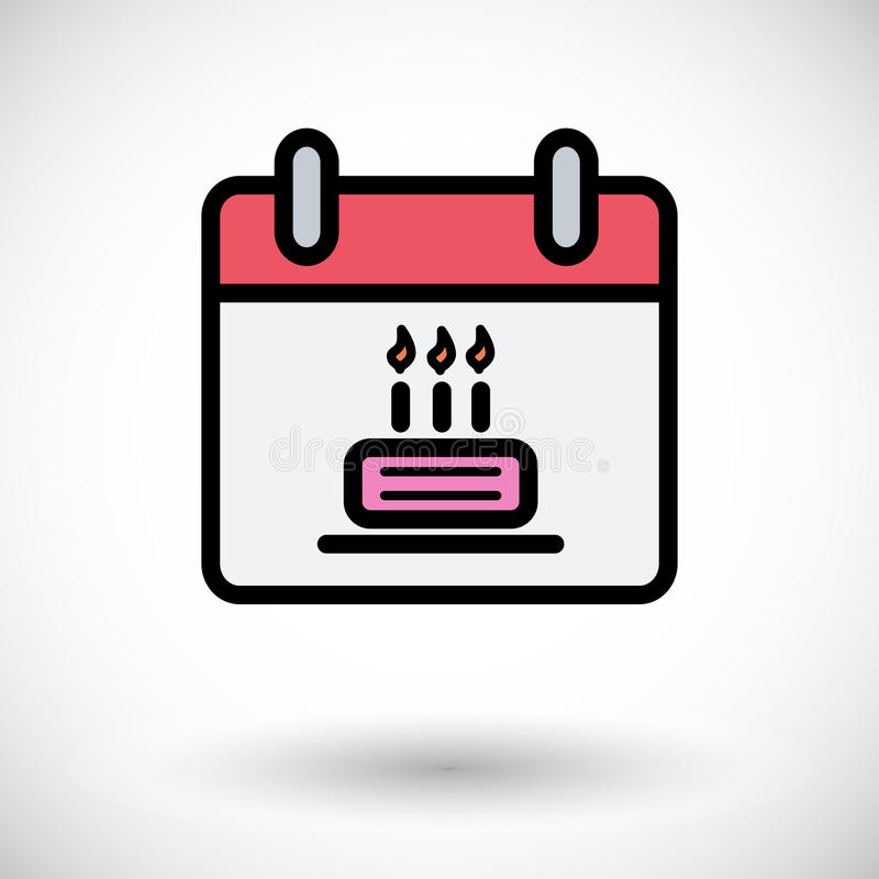 Download Kalender mit Kuchen vektor abbildung. Illustration von liebe - 90230752
