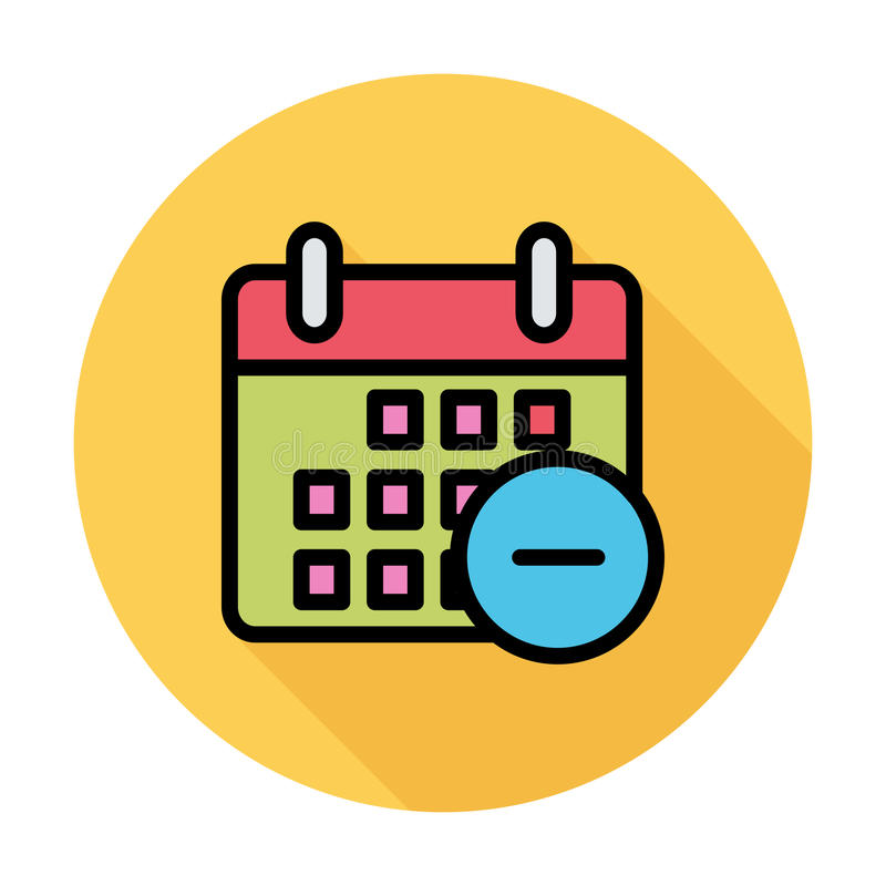Download Kalender mit Mangel vektor abbildung. Illustration von papier - 90231471