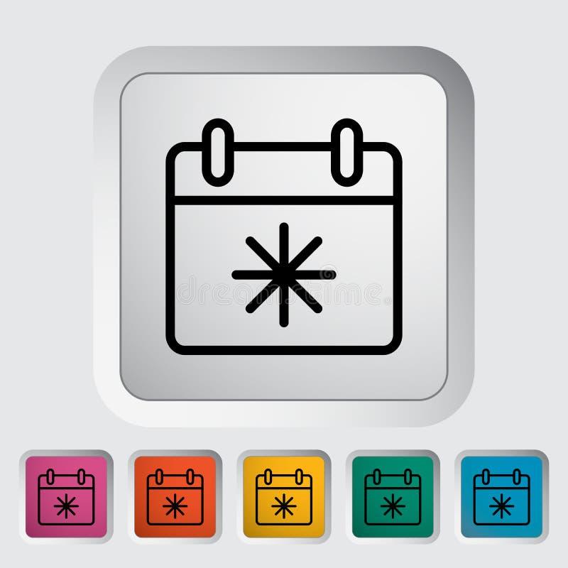 Download Kalender mit Schneeflocke vektor abbildung. Illustration von valentine - 90230882
