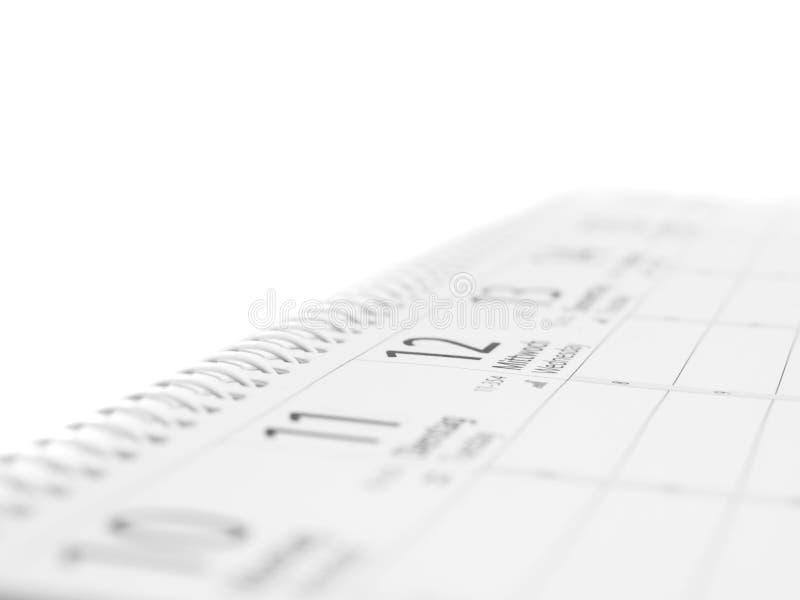 Kalender mit Spiralbindung stockfotos
