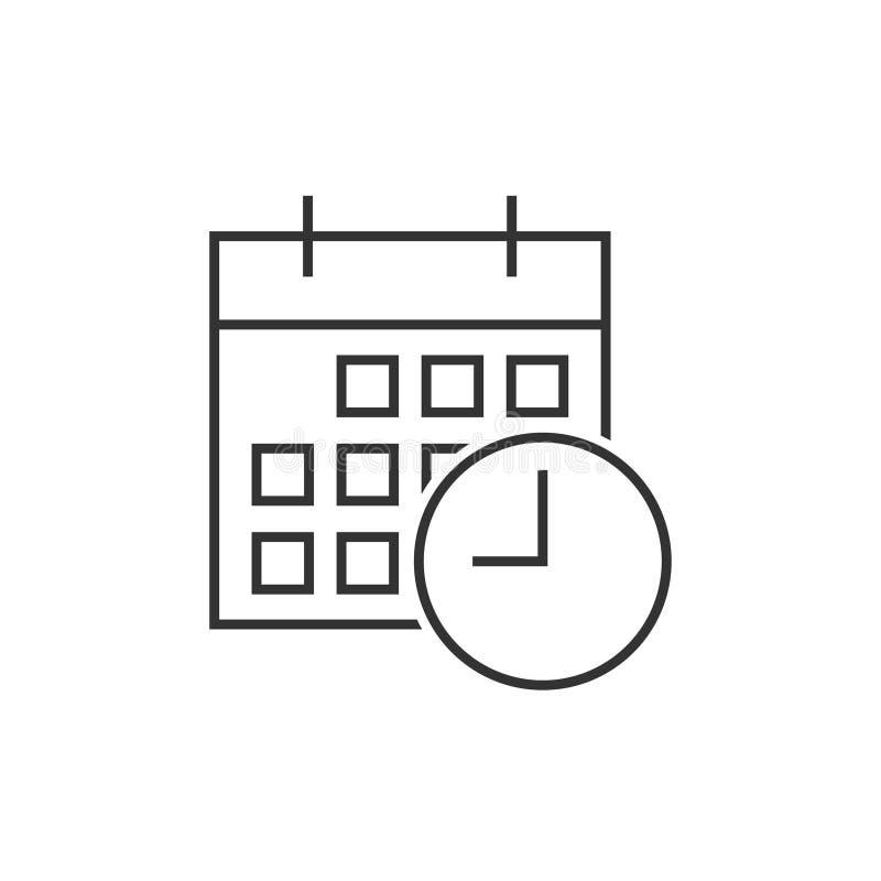 Kalender mit Uhrikone lizenzfreie abbildung