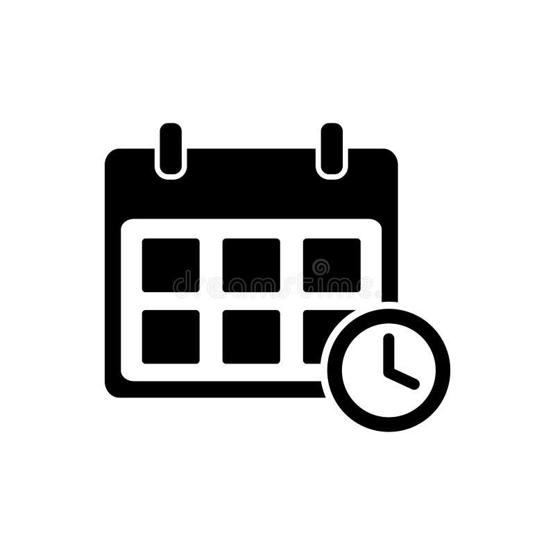 Kalender, programma en de vector van het klokpictogram voor grafisch ontwerp, embleem, website, sociale media, mobiele toepassing stock illustratie