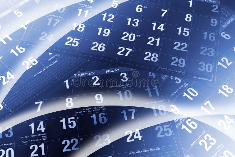 Kalender-Seiten lizenzfreie stockbilder