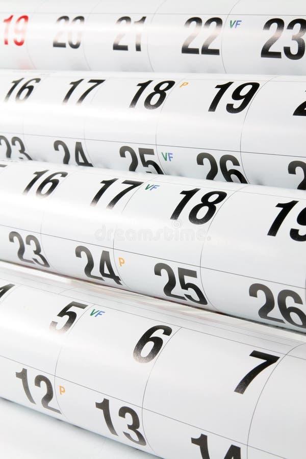 Kalender-Seiten stockbilder