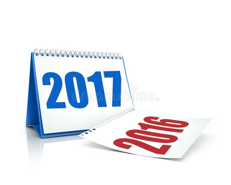 Kalender 2016 und 2017 lizenzfreie abbildung