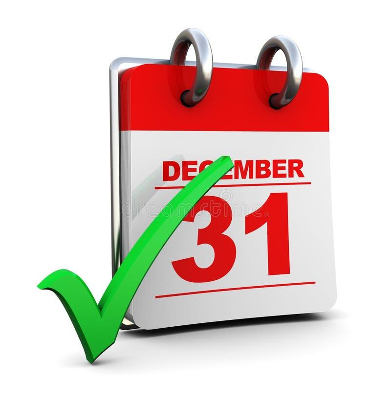 Kalender und Häckchen lizenzfreie abbildung