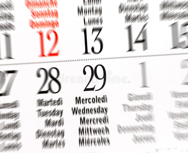 Kalender van schrikkeljaar, Februari royalty-vrije stock foto's