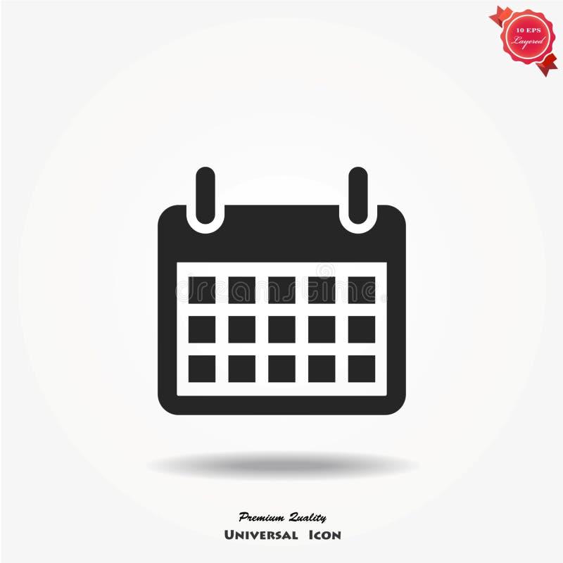 Kalender vectorpictogram royalty-vrije stock foto