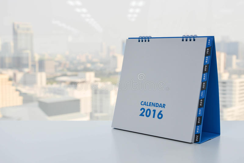 Kalender von 2016 lizenzfreie stockbilder