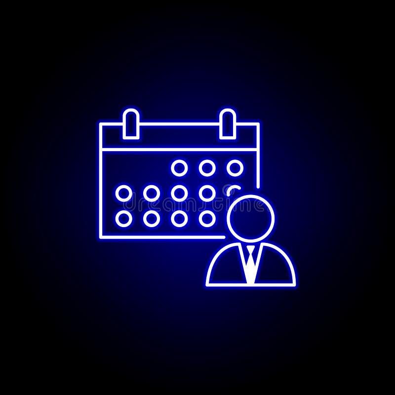 Kalender, Zeitplan, Arbeitskraftikone r Zeichen und Symbole k?nnen f?r verwendet werden stock abbildung