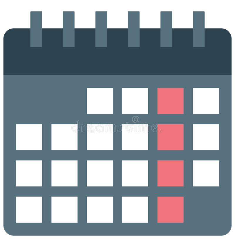 Kalender, Zeitplan-Vektor-Ikone stock abbildung