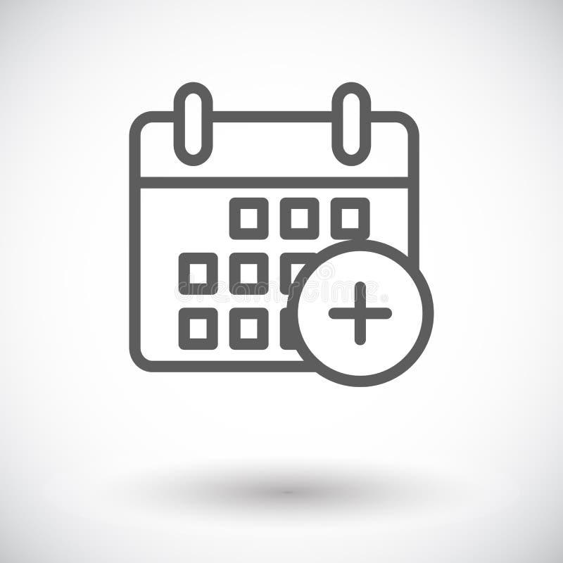 Download Kalenderanschlagikone vektor abbildung. Illustration von anzeige - 90230504