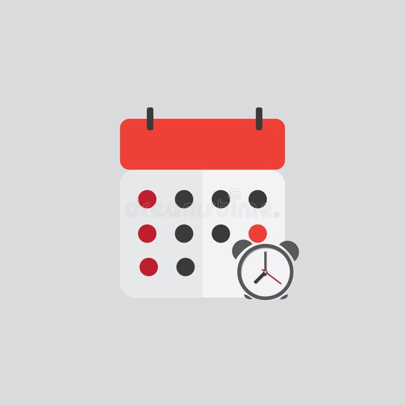 Kalenderanzeigen-Ikonenfarbe stockfoto