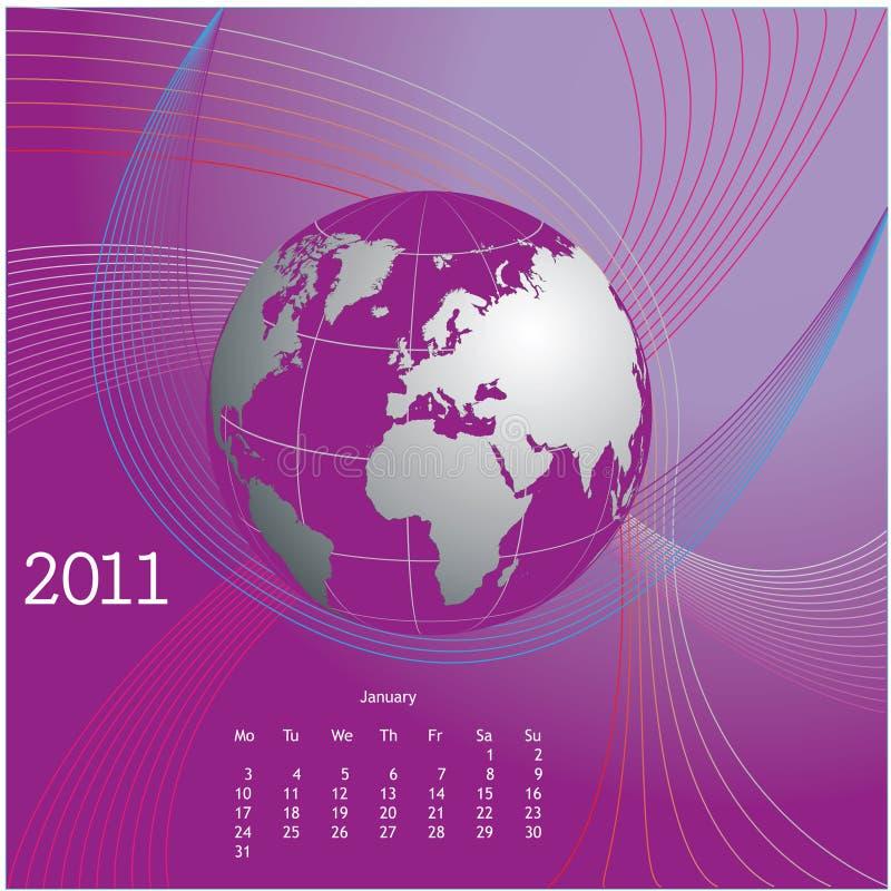 Kalenderauslegung 2011 lizenzfreie abbildung