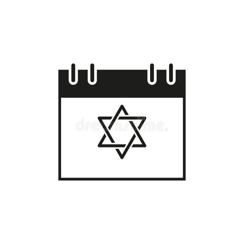 KalenderChanukkah feriedagen av symbolen royaltyfri illustrationer