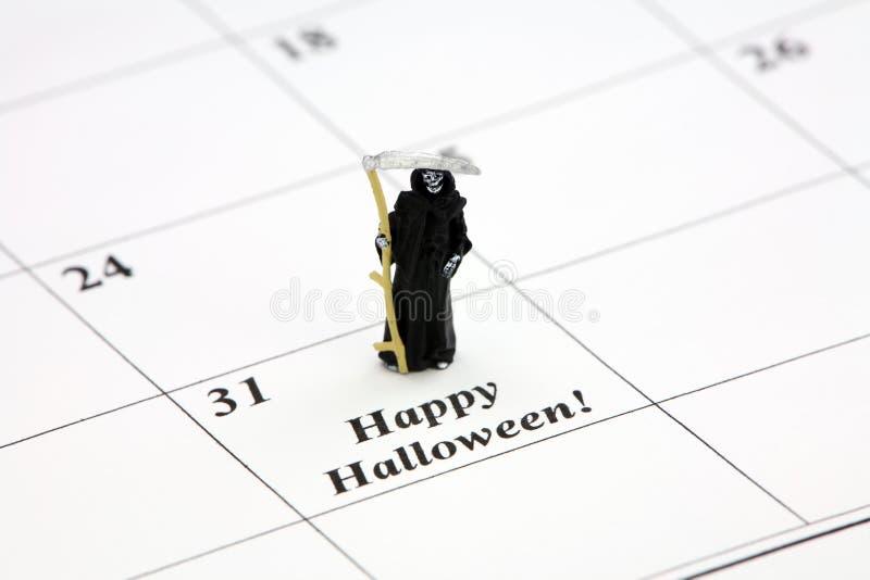 kalenderdatum lyckliga halloween arkivbild