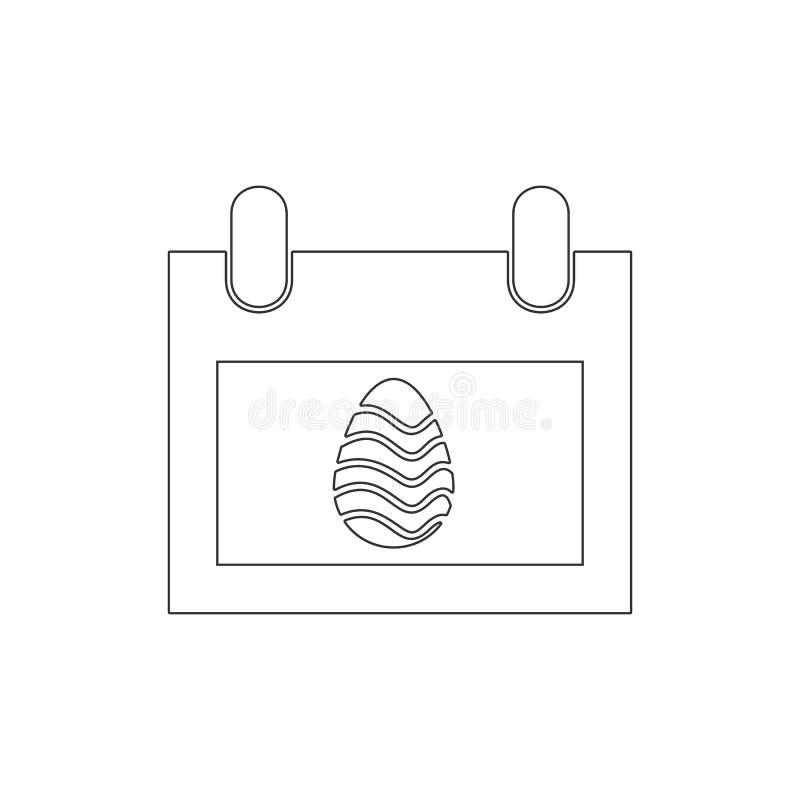 Kalenderentwurfsikone Elemente der Ostern-Illustrationsikone Zeichen und Symbole k?nnen f?r Netz, Logo, mobiler App, UI, UX verwe stock abbildung