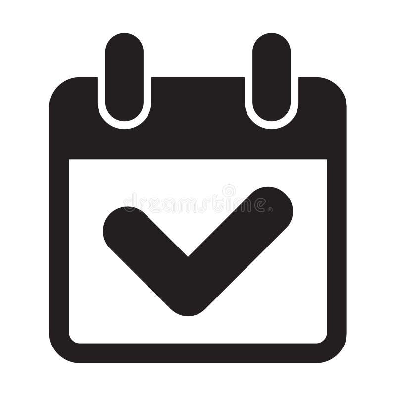 Kalenderhäkchenikone lizenzfreie abbildung