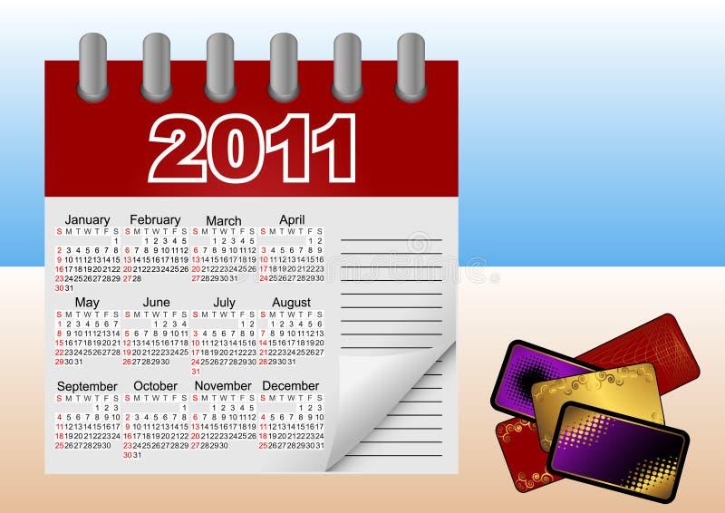 Kalenderikone für 2011. Vektorabbildung. stock abbildung