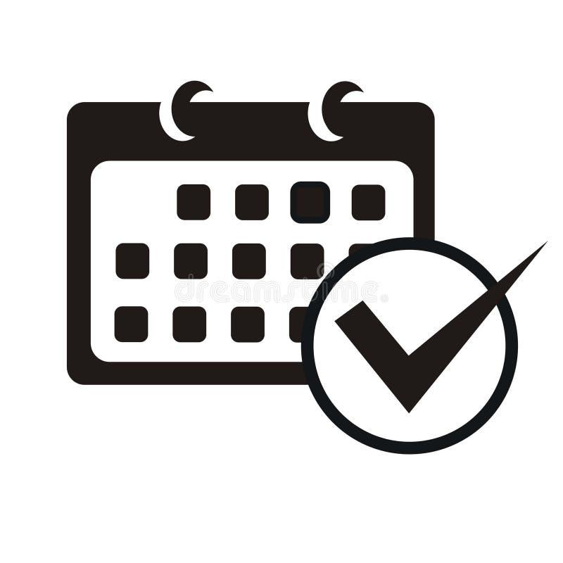 Kalenderikone mit Checkliste lizenzfreie abbildung
