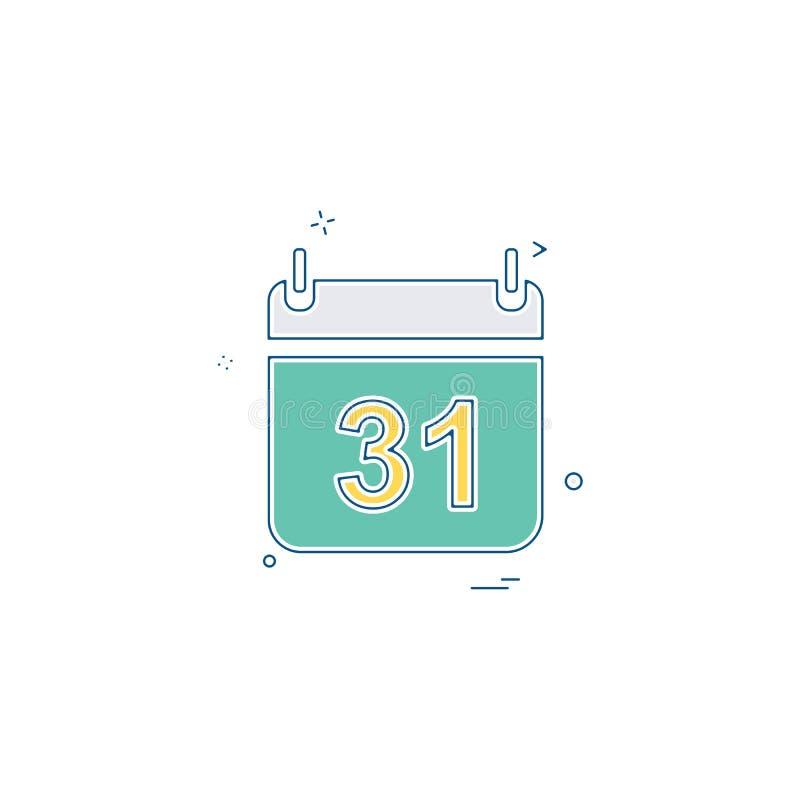 Kalenderikonen-Designvektor des neuen Jahres stock abbildung