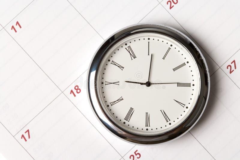 kalenderklocka royaltyfri bild