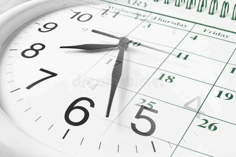 kalenderklocka royaltyfri foto
