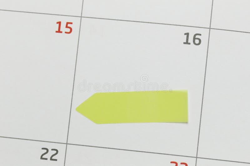 Kalendern av 16th och har kopieringsutrymme arkivfoton