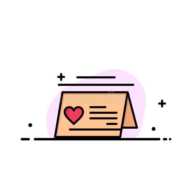 Kalendern förälskelse, gift som gifta sig den plana linjen för affären, fyllde mallen för symbolsvektorbanret vektor illustrationer